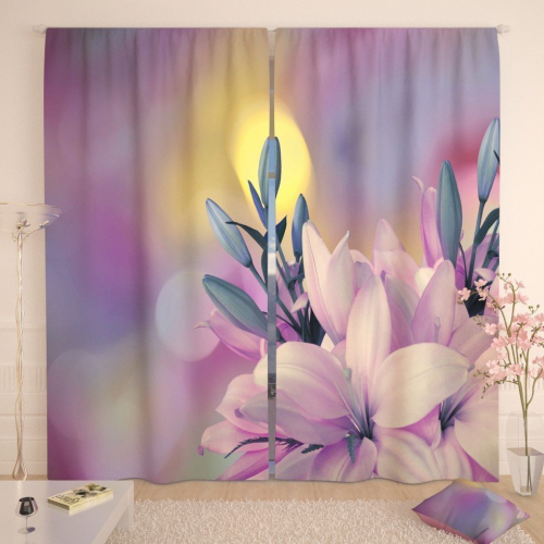 Фотошторы Мягкая розовая лилия