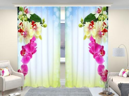 Фотошторы люкс Веточка орхидеи