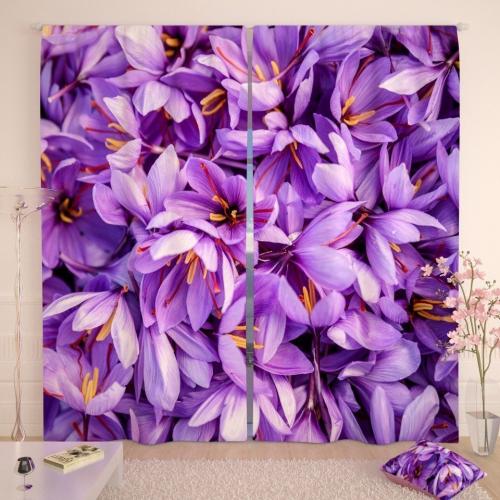 Фотошторы Цветы шафрана