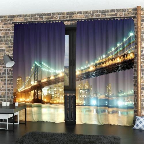 Фотошторы Мост через Манхеттен