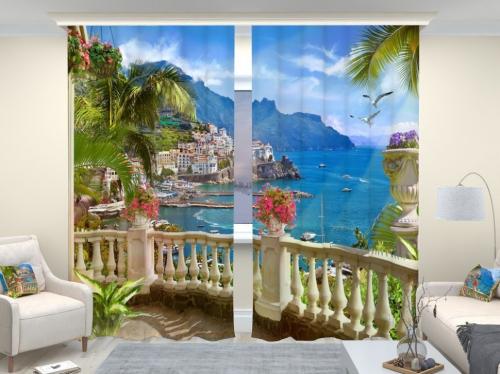 Фотошторы люкс Вид с балкона 2