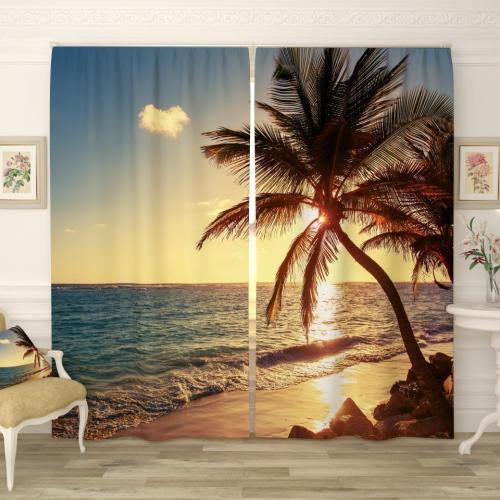 Фотошторы Солнечная пальма