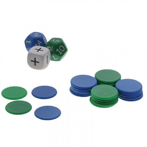 Математический набор №3 ( Кубики и Фишки )