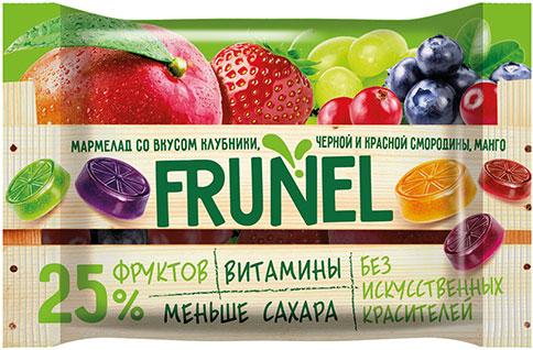 ПМ392, Жевательный мармелад «Frunel» ассорти вкусов,  40 г.