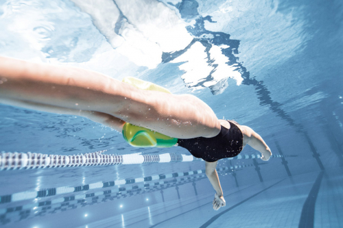 Доска для плавания PULL KICK yellow (20-21)