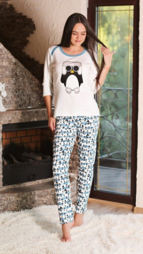 Коллекция Penguin пижама № 217741 экрю пингвин