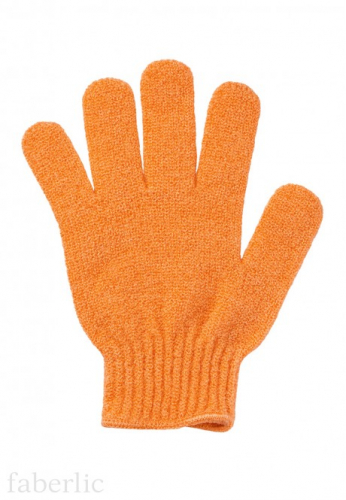Перчатка для душа оранжевая, Faberlic