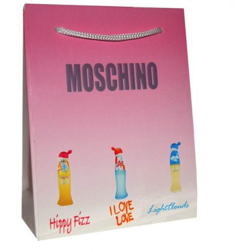 Подарочный набор Moschino в пакете Happi Fizz+I Love Moschino+Light Clouds 3x15ml (женский)_Копия