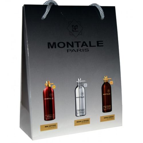 Подарочный набор Montale в пакете Red Vetiver+Wood Spices+Aoud Forest 3х15ml (унисекс)_Копия