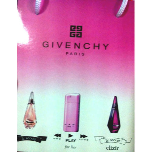 Подарочный набор Givenchy в пакете Le Secret+Play for Her+Le Secret Elixir 3x15 ml (женский)_Копия
