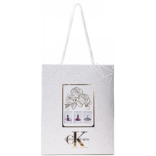 Подарочный набор Calvin Klein в пакете Euphoria+Sheer Beauty+Euphoria Blossom 3x15 ml (женский)_Копия