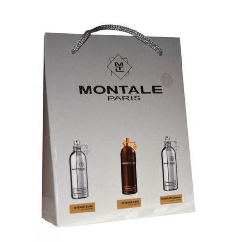 Подарочный набор Montale в пакете Intense Tiare+Intense Cafe+Chocolate Greedy 3х15ml (унисекс)_Копия