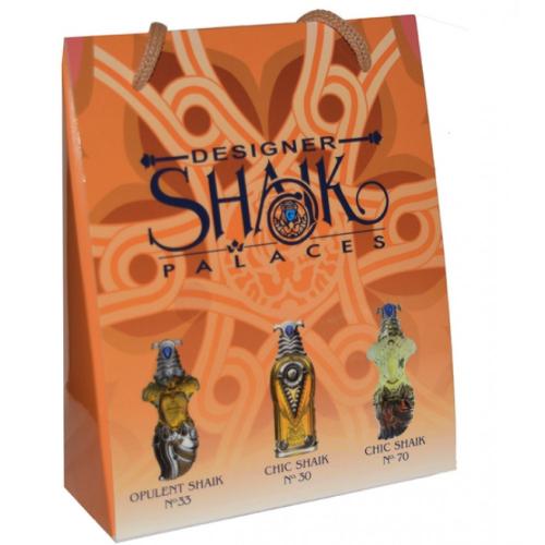 Подарочный набор SHAIK в пакете Opulent Shaik №33+Chic Shaik №30+Chic Shaik №70 3х15ml (женский)_Копия