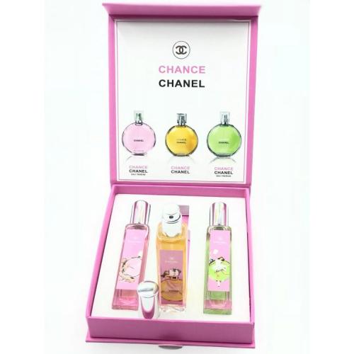 Подарочный набор парфюмов Chanel Chance женский 3x20ml_Копия