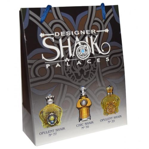 Подарочный набор SHAIK в пакете Opulent Shaik №77+Chic Shaik №70+Chic Shaik №33 3х15ml (мужской)_Копия