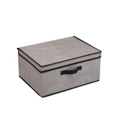 219р  260р  Короб для хранения Пепита, Д420 Ш320 В200, черно-белый