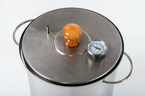 Коптильня Hanhi, 30 л, широкая с биметаллическим термометром