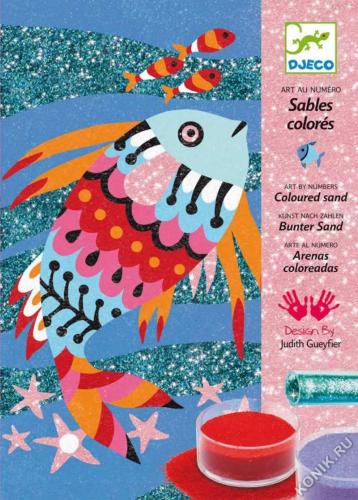 Набор цветного песка Радужные рыбки