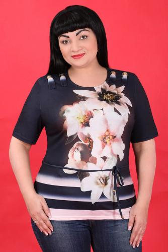 СИМАН 5562 Блуза+пояс