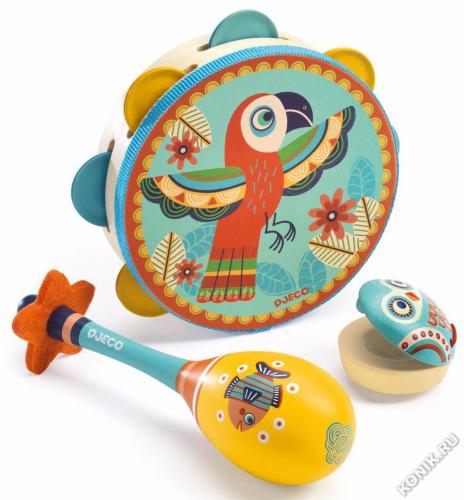 Набор музыкальных инструментов (маракас, кастаньет