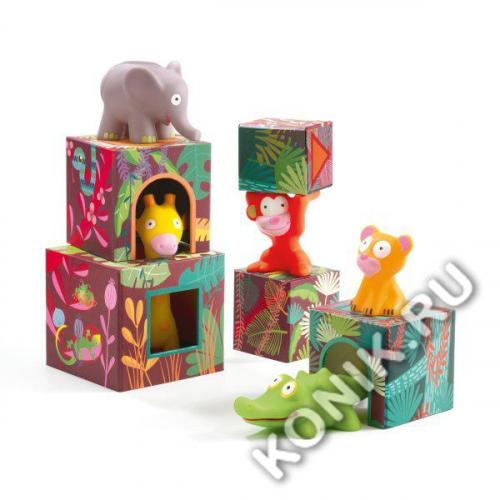 Кубики-пирамидка Большие Джунгли