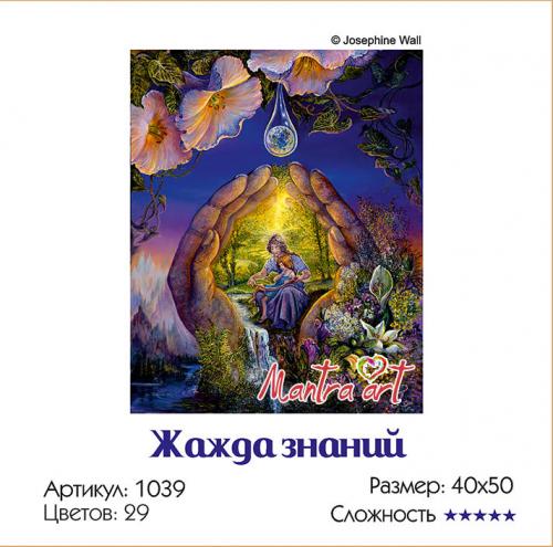 Жажда знаний Картины-раскраски по номерам 40х50