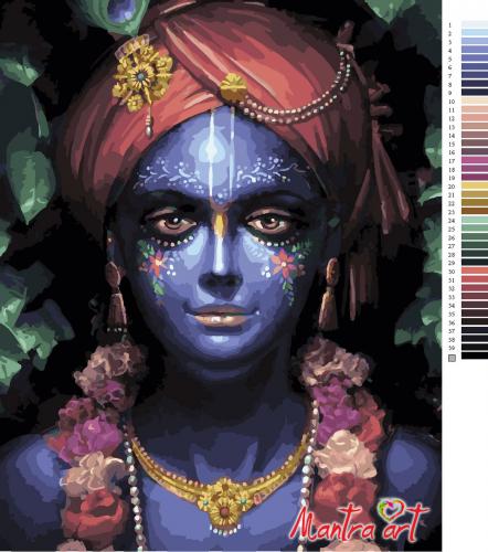 Кришна Шьяма Картины-раскраски по номерам 40х50