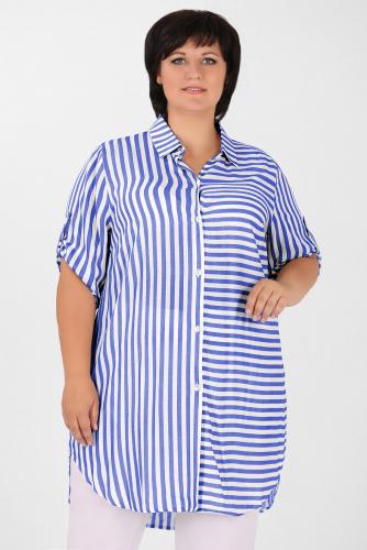 2В 3579 Рубашка синий
