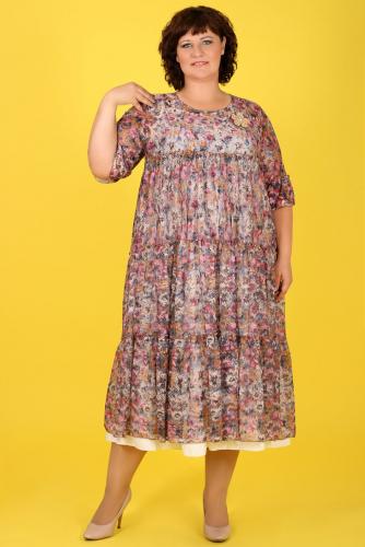 20-26 ДАДАШ L053 Платье-двойка+брошь