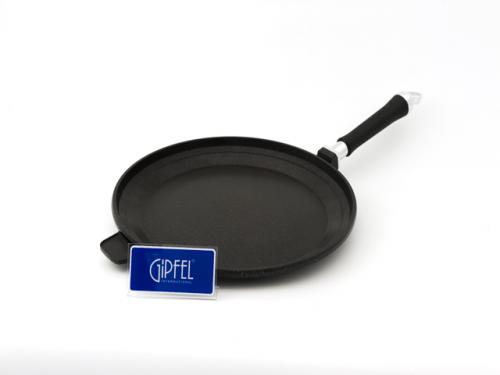 1463 GIPFEL Сковорода для пиццы FOCUS 32x3,0 см со съемной ручкой (литой алюминий, антипригарное покрытие Whitford XYLAN, индукционное дно)