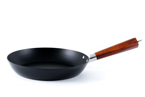 2591 GIPFEL Сковорода PROBA 26см из углеродистой стали с деревянной ручкой и ант