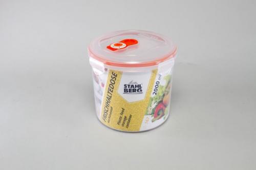 4276-S STAHLBERG Контейнер вакуумный пластиковый для хранения продуктов 167х152 мл.- 2000 мл оранжевый