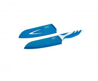 6755 GIPFEL Нож сантоку Rainbow 18 см в пластиковом чехле, с защитным покрытием, пластиковая ручка (нерж. сталь), 3 цвета в ассортименте