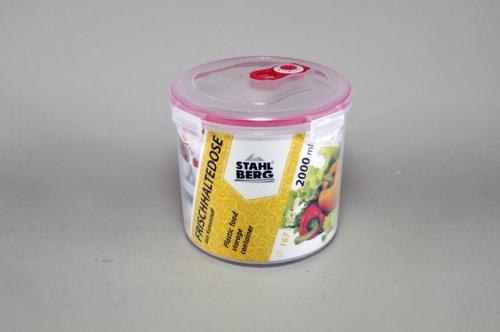 4279-S STAHLBERG Контейнер вакуумный пластиковый для хранения продуктов 167х152 мл.- 2000 мл розовый