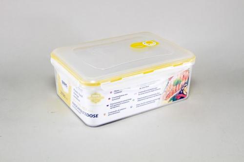 4258-S STAHLBERG Контейнер вакуумный пластиковый для хранения продуктов 252х183х102 мл.- 2700 мл желтый