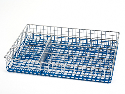 5137-S STAHLBERG Лоток для столовых приборов 30х22х5см голубой  (хромированный прут)