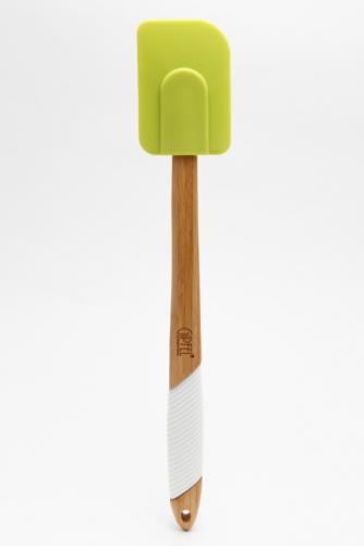 2798 GIPFEL Лопатка для салата 36,5х5х1,7 см (бамбук, силикон)