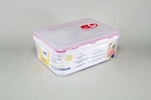 4259-S STAHLBERG Контейнер вакуумный пластиковый для хранения продуктов 252х183х102 мл.- 2700 мл розовый