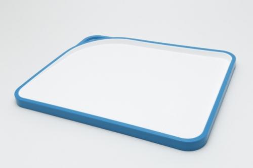 3121 GIPFEL Доска разделочная ACRUX 33,8х27,7х1,6 см голубая пластмассовая
