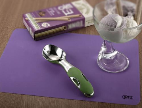 9766 GIPFEL Ложка для мороженого DIUM 18 см зеленая (нерж. сталь, силикон)