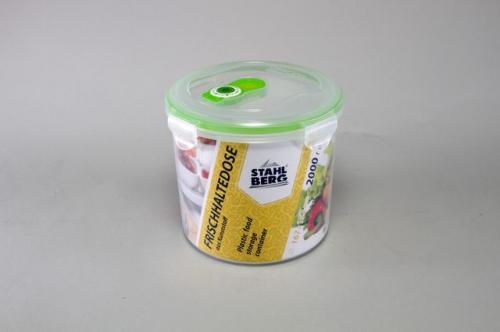 4277-S STAHLBERG Контейнер вакуумный пластиковый для хранения продуктов 167х152 мл.- 2000 мл зеленый
