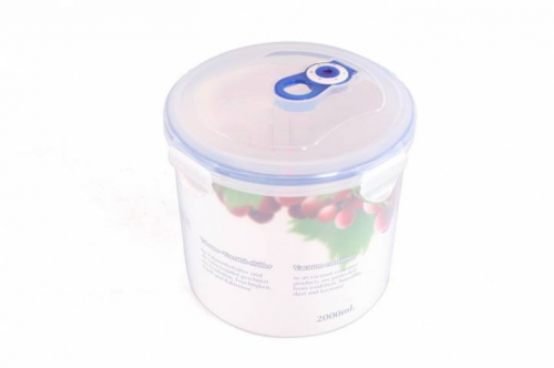 4552 GIPFEL Вакуумный контейнер для хранения продуктов круглый 167x152мм - 2000 мл (пластик)