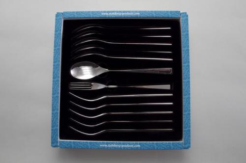 6341-S STAHLBERG Набор десертных приборов 12 пр : ложка десертная 6шт, вилка 6шт (нерж.сталь)