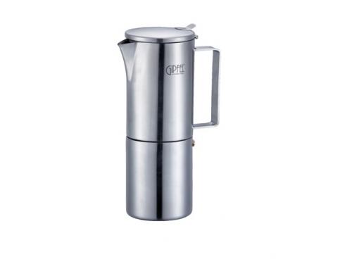5320 GIPFEL Гейзерная кофеварка WENUS 300мл/ 6 чашек. Матовая полировка. Индукционное дно. Материал: Нержавеющая сталь S/S 18/8, S/S 18/0