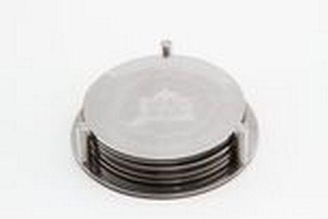9304-S STAHLBERG Набор подставок под горячее 0,8х3см, диаметр 10см , поверхность: польское зеркало