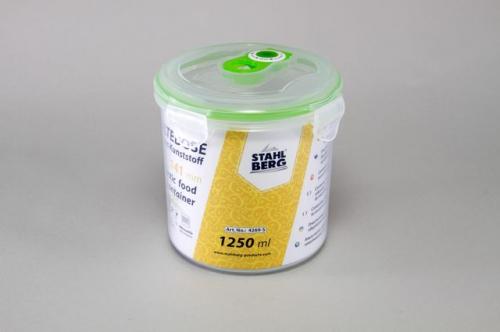 4269-S STAHLBERG Контейнер вакуумный пластиковый для хранения продуктов 140х141 мл.- 1250 мл зеленый