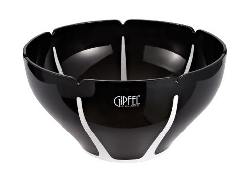 9446 GIPFEL Салатница с двойными стенками AMADEUS 26х26х14,3см цвет белый с черным Материал : AS