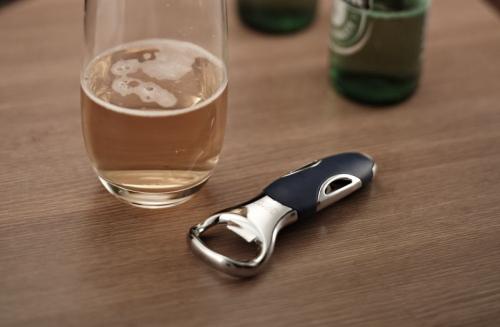 9772 GIPFEL Открывалка для бутылок DIUM 13 см синяя (нерж. сталь, силикон)
