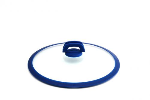 1024 GIPFEL Крышка стеклянная SMART 32 см с силиконовой синей ручкой