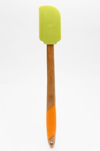 2796 GIPFEL Лопатка для салата 36,5х5,1х1,7 см (бамбук, силикон)